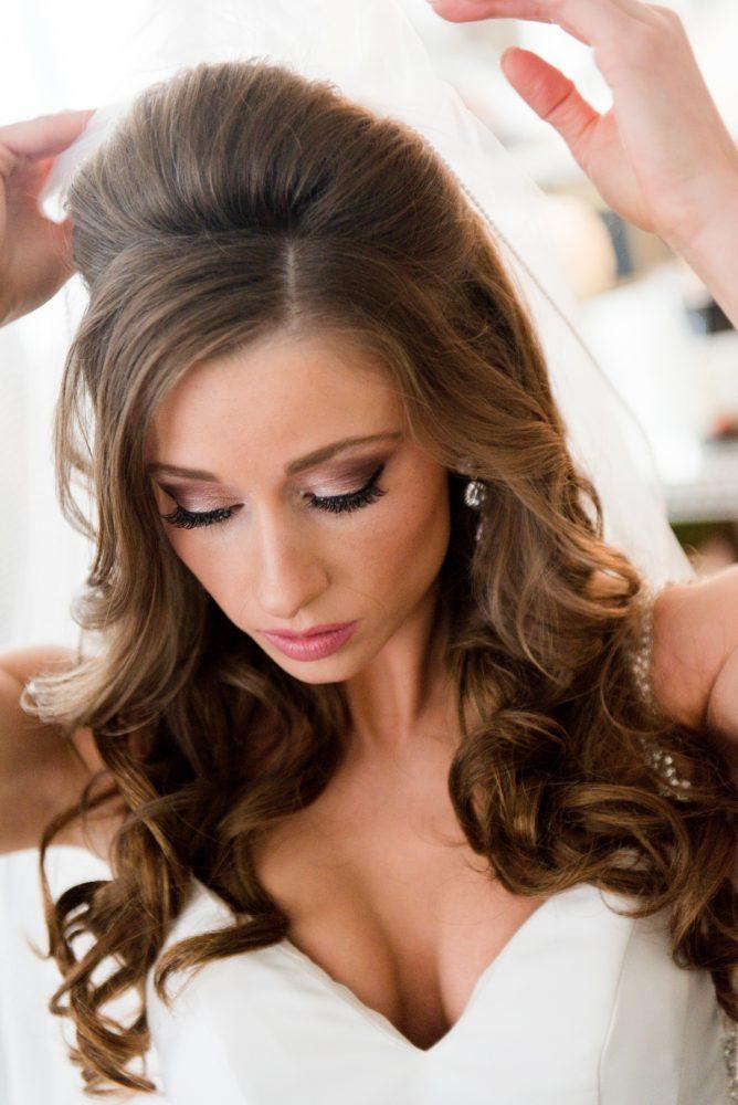 Soft Curls Bride Wedding Day Hair: Lavish City Wedding from Poppy Events & Leeann Marie, Wedding Photographers featured on Burgh Brides