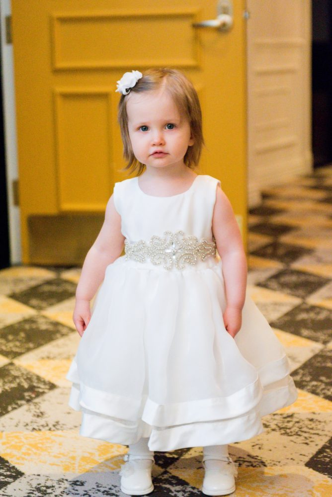 Flower Girl Dress: Lavish City Wedding from Poppy Events & Leeann Marie, Wedding Photographers featured on Burgh Brides