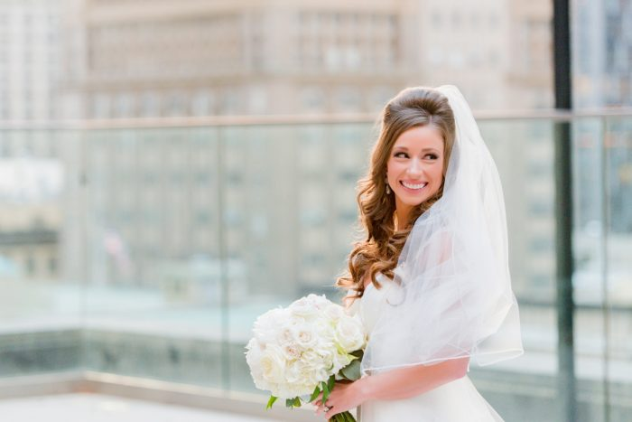 Ivory & Blush Wedding Day Bridal Bouquet: Lavish City Wedding from Poppy Events & Leeann Marie, Wedding Photographers featured on Burgh Brides