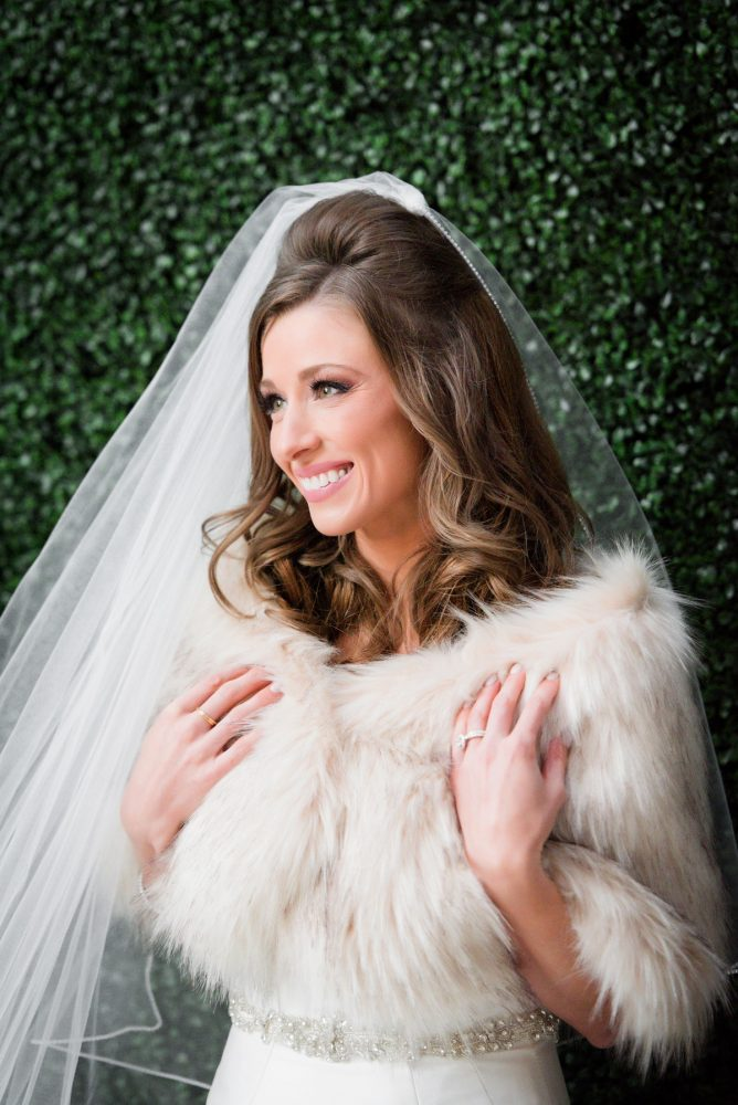 Faux Fur Wrap Bride Wedding Day: Lavish City Wedding from Poppy Events & Leeann Marie, Wedding Photographers featured on Burgh Brides