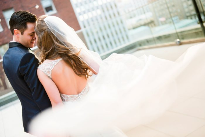 Open Back Beaded Wedding Dress: Lavish City Wedding from Poppy Events & Leeann Marie, Wedding Photographers featured on Burgh Brides