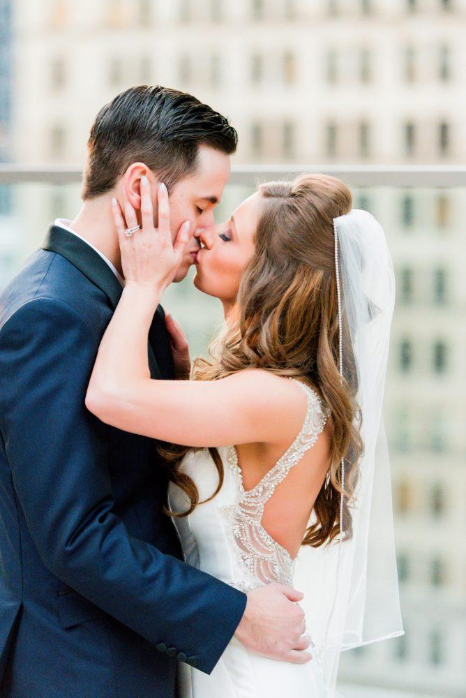 Beaded Open Back Wedding Dress: Lavish City Wedding from Poppy Events & Leeann Marie, Wedding Photographers featured on Burgh Brides
