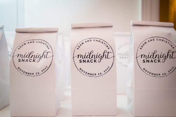 Wedding Midnight Snacks: Lavish City Wedding from Poppy Events & Leeann Marie, Wedding Photographers featured on Burgh Brides