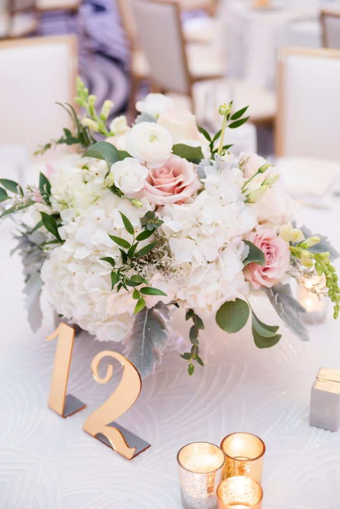 Gold Wedding Table Numbers: Lavish City Wedding from Poppy Events & Leeann Marie, Wedding Photographers featured on Burgh Brides