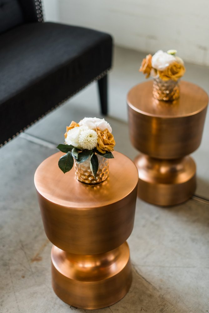 Gold Wedding Details: Modern Minimalist Inspired Wedding Styled Shoot from JPC Event Group and Dawn Derbyshire Photography