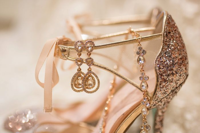 Rose Gold Glitter Wedding Day Shoes for Bride: Rustic Glam Wedding at Seven Springs from Simply Kacie Photography featured on Burgh Brides