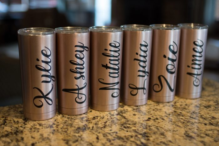 Custom Bridesmaids Tumblers: Rustic Glam Wedding at Seven Springs from Simply Kacie Photography featured on Burgh Brides