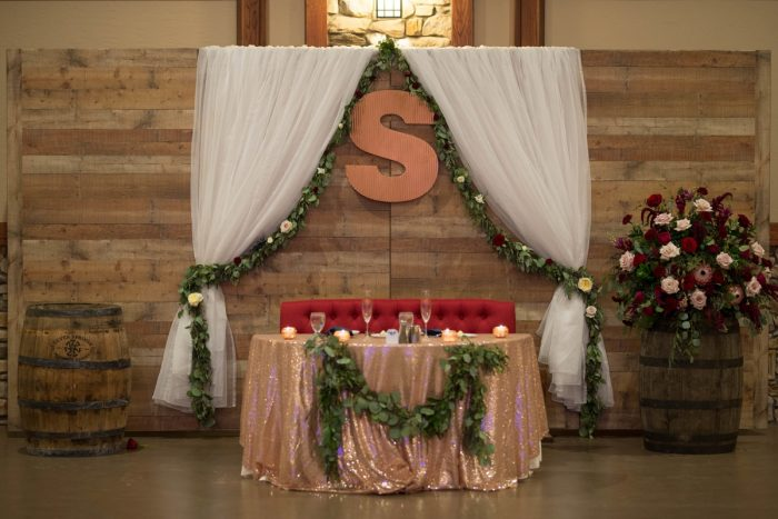 Sweetheart Table Decor Ideas: Rustic Glam Wedding at Seven Springs from Simply Kacie Photography featured on Burgh Brides
