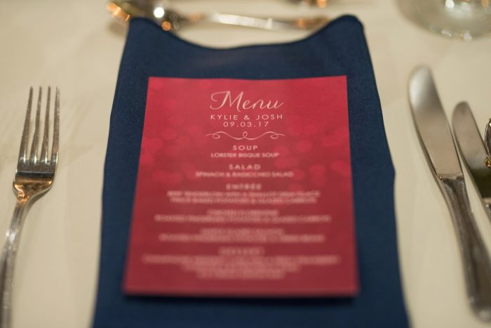 Wedding Menu Cards: Rustic Glam Wedding at Seven Springs from Simply Kacie Photography featured on Burgh Brides