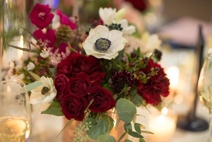 Wedding Flower Centerpieces: Rustic Glam Wedding at Seven Springs from Simply Kacie Photography featured on Burgh Brides