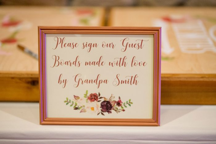 Unique Wedding Guest Book Ideas: Rustic Glam Wedding at Seven Springs from Simply Kacie Photography featured on Burgh Brides
