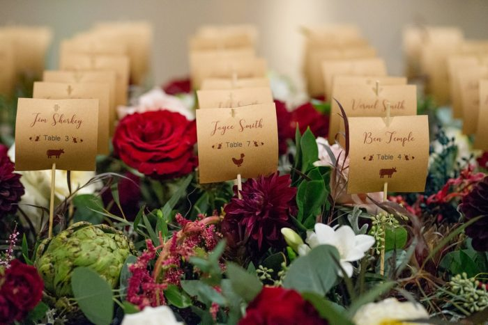 Wedding Escort Card Ideas: Rustic Glam Wedding at Seven Springs from Simply Kacie Photography featured on Burgh Brides