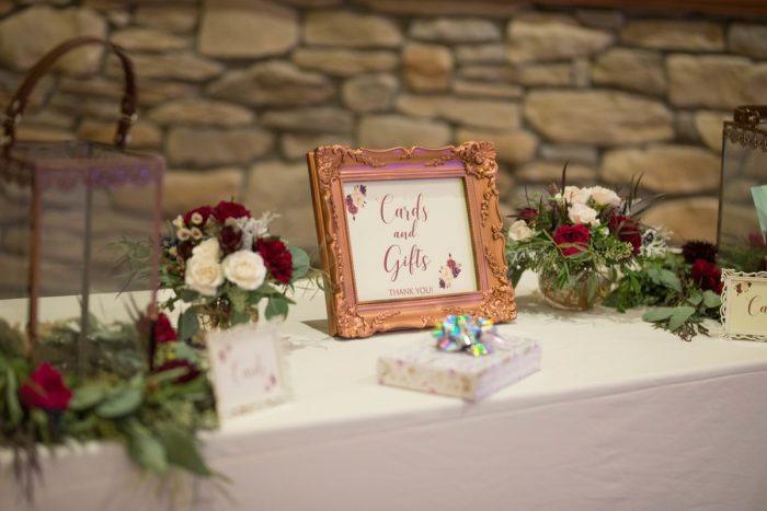 Wedding Sign Ideas: Rustic Glam Wedding at Seven Springs from Simply Kacie Photography featured on Burgh Brides