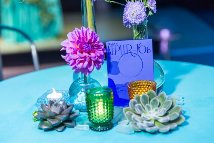 Science Inspired Wedding Table Numbers: Fun Science Inspired Wedding Styled Shoot at the Carnegie Science Center from Weddings by Alisa featured on Burgh Brides