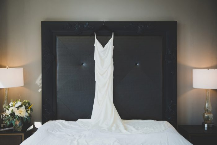 Spaghetti Strap Wedding Dress: Simple & Intimate Wedding from BNK Photo featured on Burgh Brides