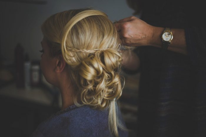 Bride Updo Hair Ideas for Wedding Day: Simple & Intimate Wedding from BNK Photo featured on Burgh Brides