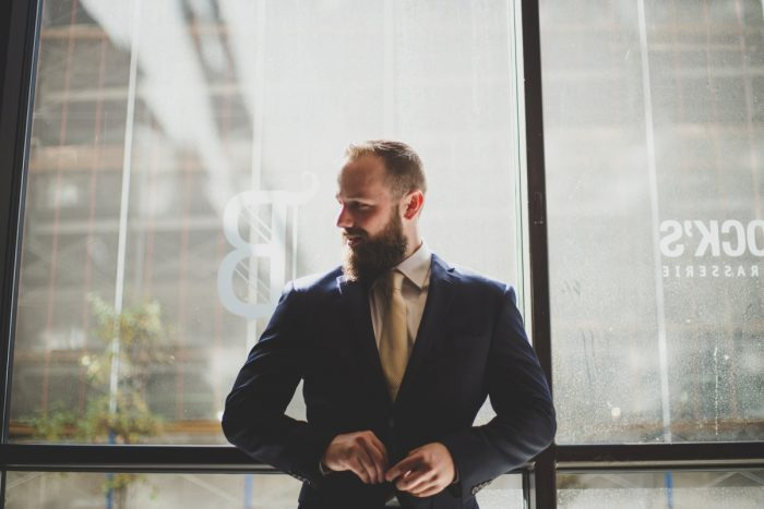 Modern Groom Wedding Day Attire: Simple & Intimate Wedding from BNK Photo featured on Burgh Brides