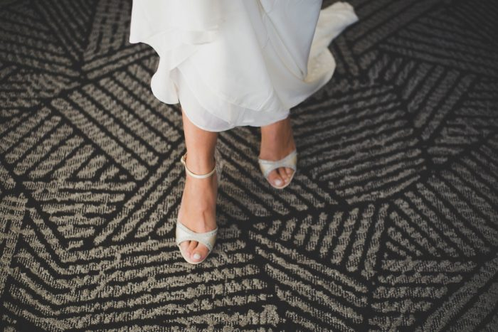 Peep Toe Ivory Wedding Shoes: Simple & Intimate Wedding from BNK Photo featured on Burgh Brides