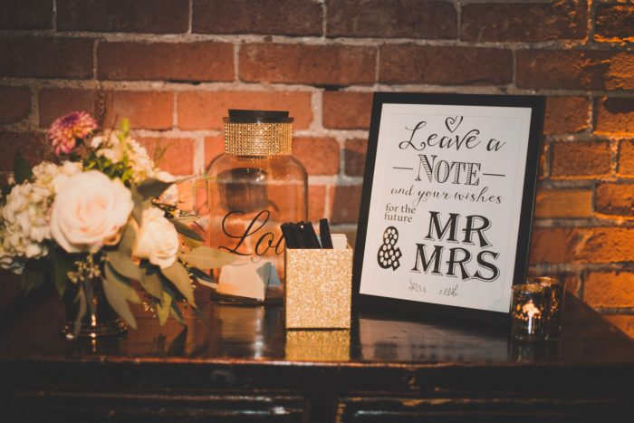 Mr & Mrs Wedding Day Sign: Simple & Intimate Wedding from BNK Photo featured on Burgh Brides