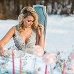 Blue & Pink Wedding Ideas: Snowy Pastel Wedding Inspired Styled Shoot from Dawn Derbyshire Photography and Jessica Garda Events featured on Burgh Brides