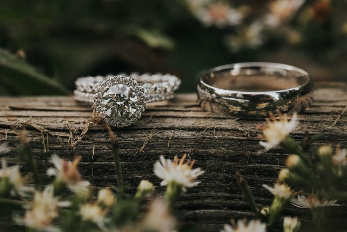Circle Diamond Engagement Ring: Soft & Romantic Outdoor Wedding from Oakwood Photo + Video featured on Burgh Brides