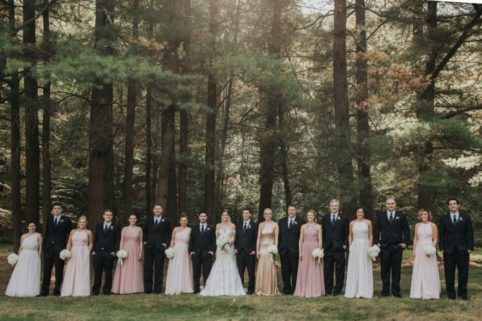 Pink Mismatched Bridesmaids Dresses: Soft & Romantic Outdoor Wedding from Oakwood Photo + Video featured on Burgh Brides
