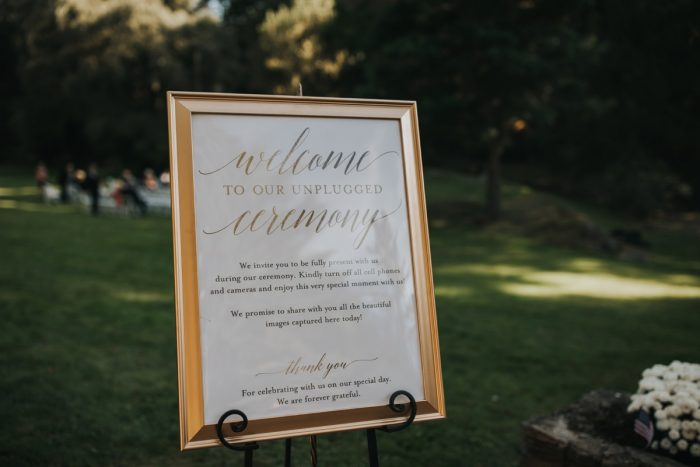 Wedding Welcome Signs: Soft & Romantic Outdoor Wedding from Oakwood Photo + Video featured on Burgh Brides