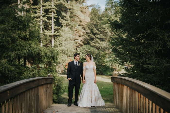 Outdoor Bridal Portraits of Bride and Groom: Soft & Romantic Outdoor Wedding from Oakwood Photo + Video featured on Burgh Brides