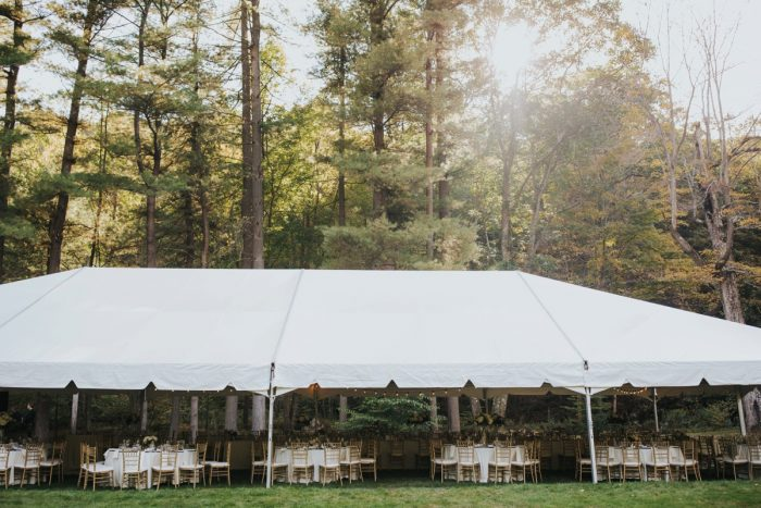 Tented Wedding Reception: Soft & Romantic Outdoor Wedding from Oakwood Photo + Video featured on Burgh Brides