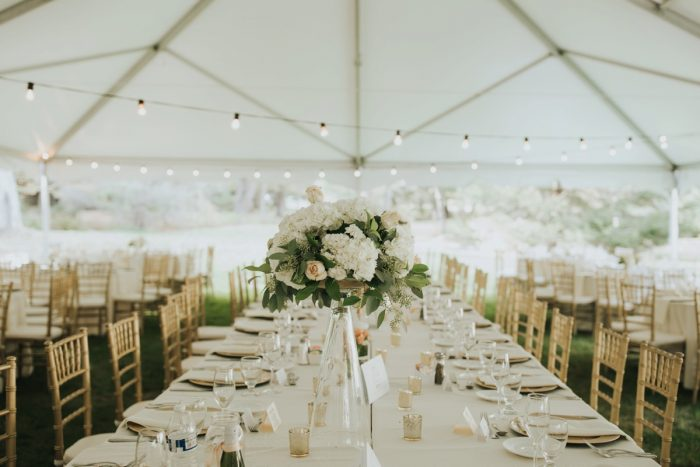 Tented Wedding Reception Decor Ideas: Soft & Romantic Outdoor Wedding from Oakwood Photo + Video featured on Burgh Brides