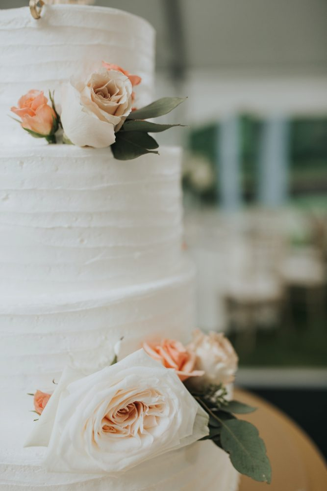 Buttercream Wedding Cake: Soft & Romantic Outdoor Wedding from Oakwood Photo + Video featured on Burgh Brides