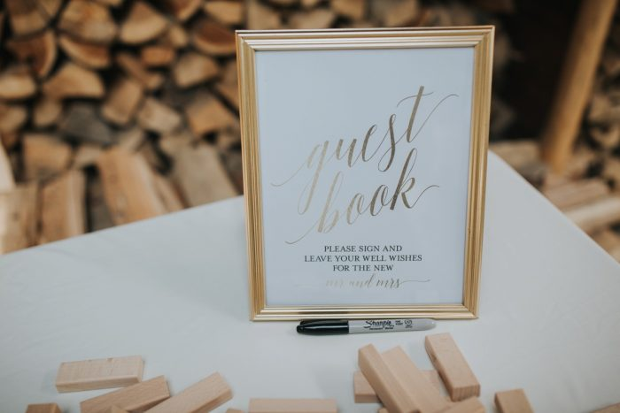 Wedding Guest Book Ideas: Soft & Romantic Outdoor Wedding from Oakwood Photo + Video featured on Burgh Brides