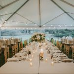 Tented Wedding Reception Ideas: Soft & Romantic Outdoor Wedding from Oakwood Photo + Video featured on Burgh Brides