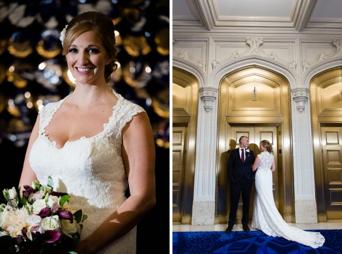 Wedding Day Portraits in Historic Downtown Pittsburgh Building: Travel Themed Wedding from Christina Montemurro Photography featured on Burgh Brides