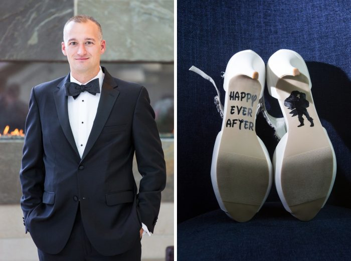 Wedding Day Groom Attire & Bridal Accessories: Travel Themed Wedding from Christina Montemurro Photography featured on Burgh Brides