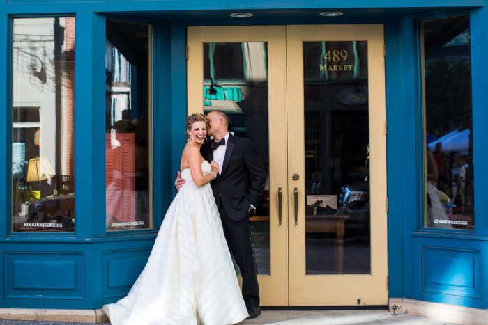 Downtown Pittsburgh Wedding Day Bridal Portraits: Travel Themed Wedding from Christina Montemurro Photography featured on Burgh Brides