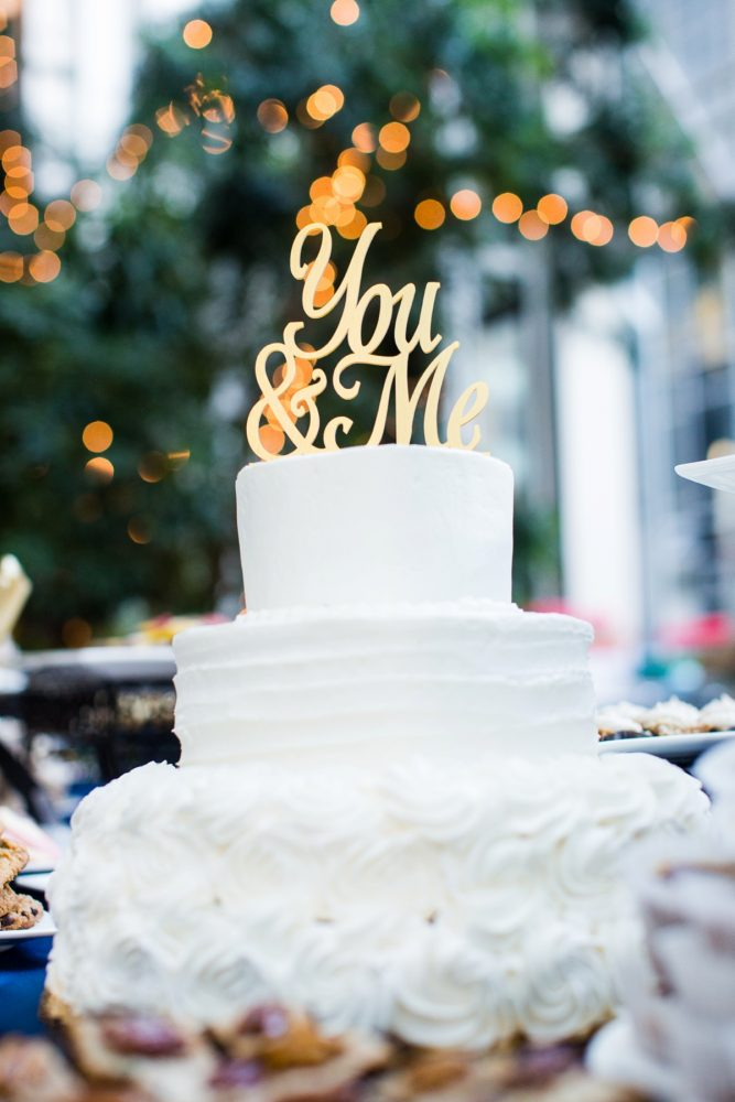 Gold You and Me Wedding Cake Topper Ideas: Travel Themed Wedding from Christina Montemurro Photography featured on Burgh Brides
