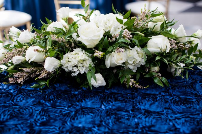 White & Green Floral Wedding Centerpieces: Travel Themed Wedding from Christina Montemurro Photography featured on Burgh Brides