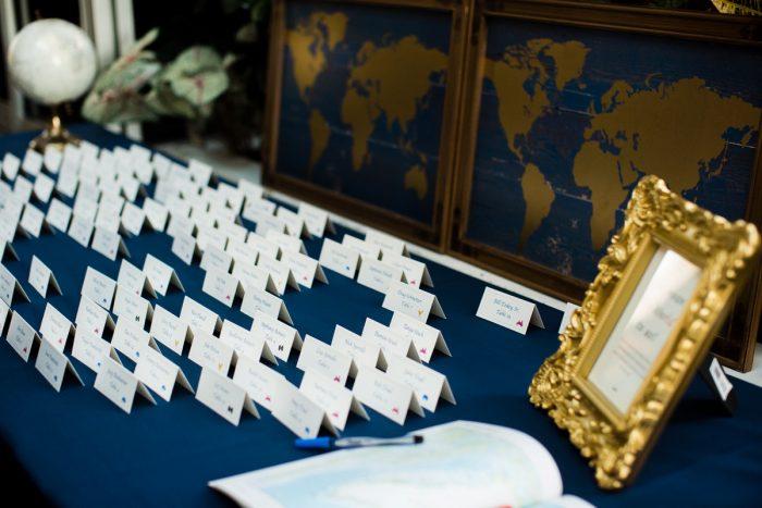Map Wedding Reception Escort Card Ideas: v