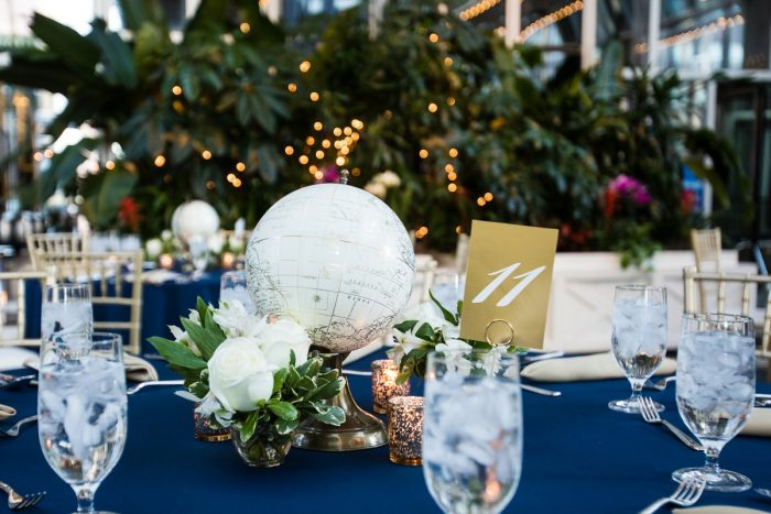 Unique Globe Wedding Centerpieces: Travel Themed Wedding from Christina Montemurro Photography featured on Burgh Brides