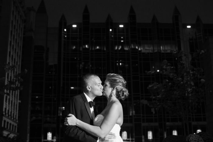 Downtown Pittsburgh Nighttime Wedding Photos: Travel Themed Wedding from Christina Montemurro Photography featured on Burgh Brides