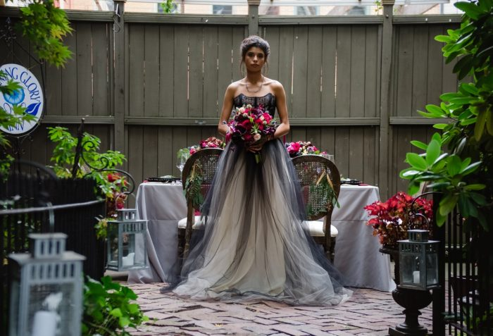 Black Wedding Dress: Tuscan Inspired Wedding Styled Shoot from A&L Events and Wanderlust Images featured on Burgh Brides