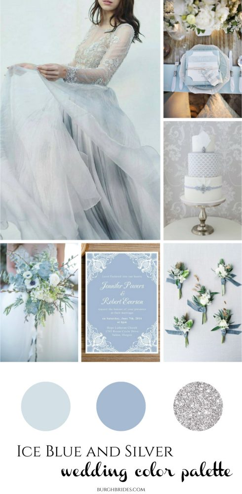 Ice Blue & Silver Wedding Inspiration from Burgh Brides
