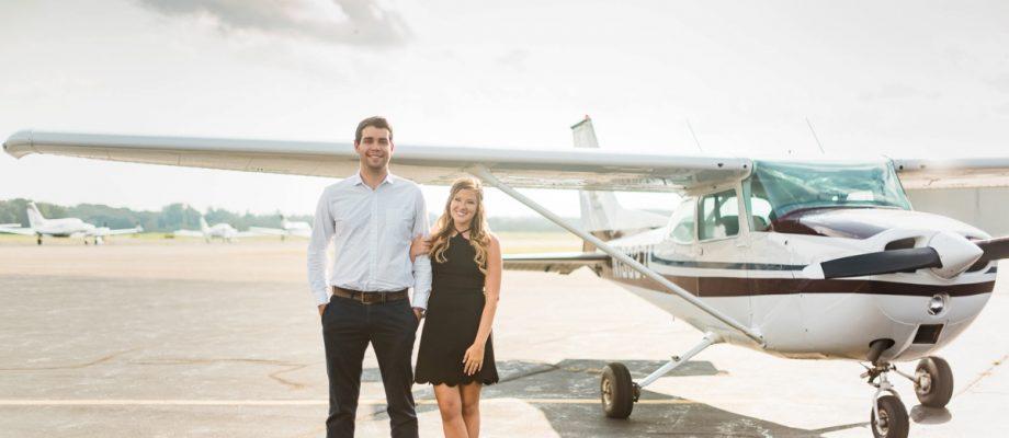 Airport Engagement Session: Alyssa & Nate