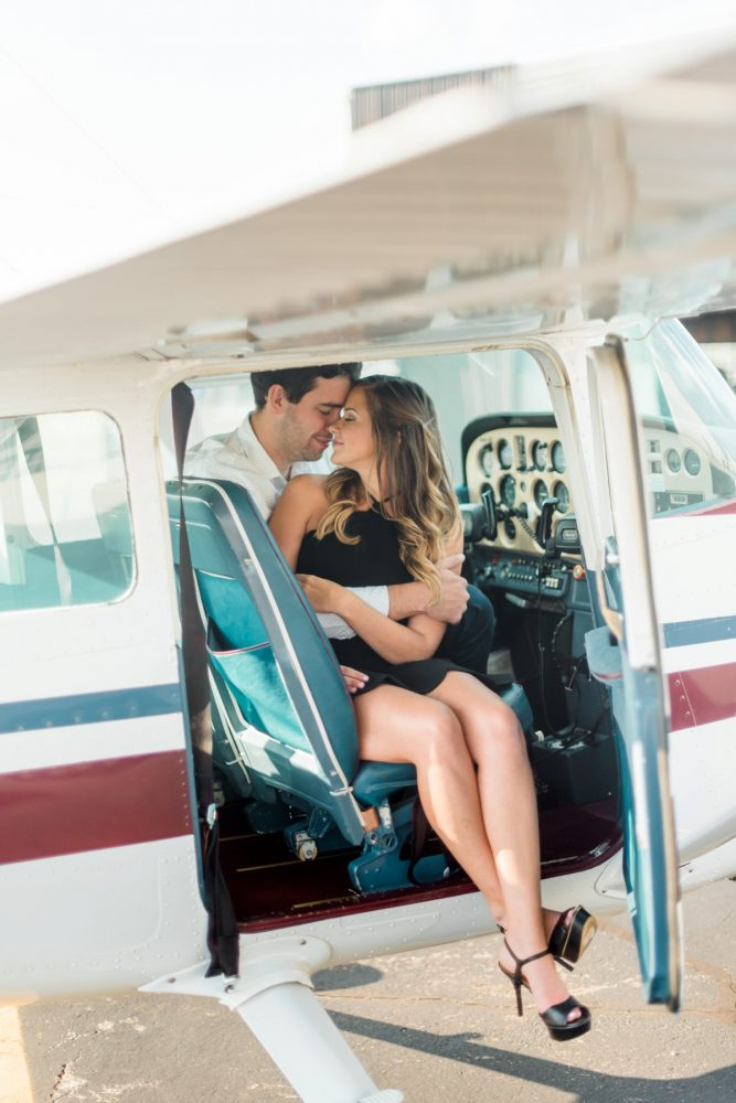 Airport Engagement Session from Dawn Derbyshire Photography featured on Burgh Brides