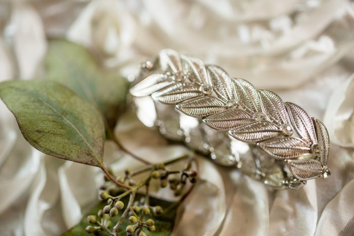Boho Silver Bridal Accessories: Bold Sangria Wedding at the University Club from Jenna Hidinger Photography featured on Burgh Brides