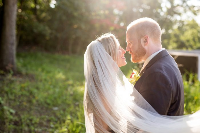 Bridal Veil Accessories: Bold Sangria Wedding at the University Club from Jenna Hidinger Photography featured on Burgh Brides