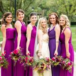 Jewel Tone Bridesmaids Dresses: Bold Sangria Wedding at the University Club from Jenna Hidinger Photography featured on Burgh Brides