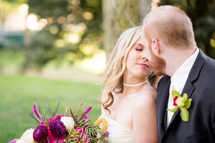 Romantic Wedding Day Portraits: Bold Sangria Wedding at the University Club from Jenna Hidinger Photography featured on Burgh Brides