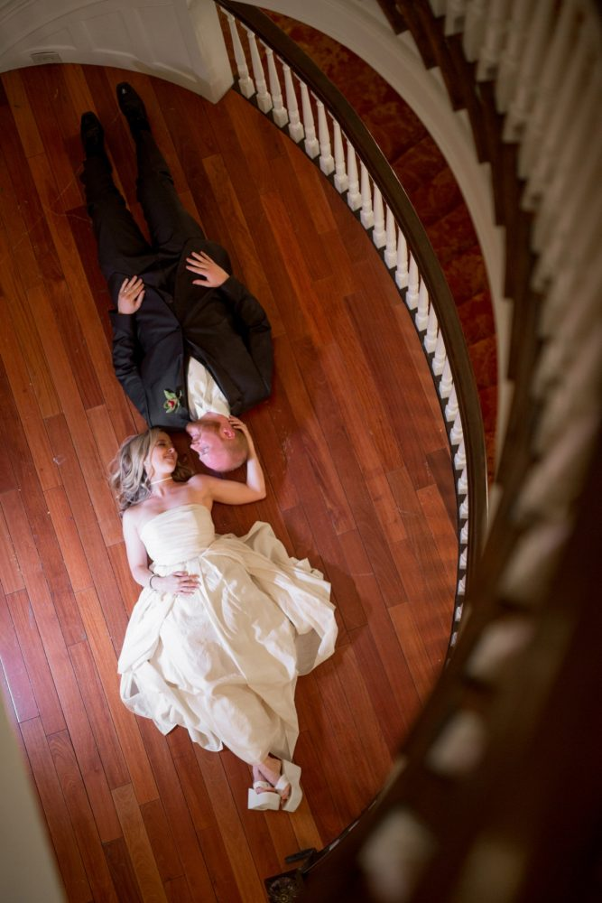 Unique Bridal Portraits: Bold Sangria Wedding at the University Club from Jenna Hidinger Photography featured on Burgh Brides
